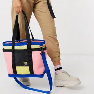 The North Face Explore Utility Tote Pink Multi New